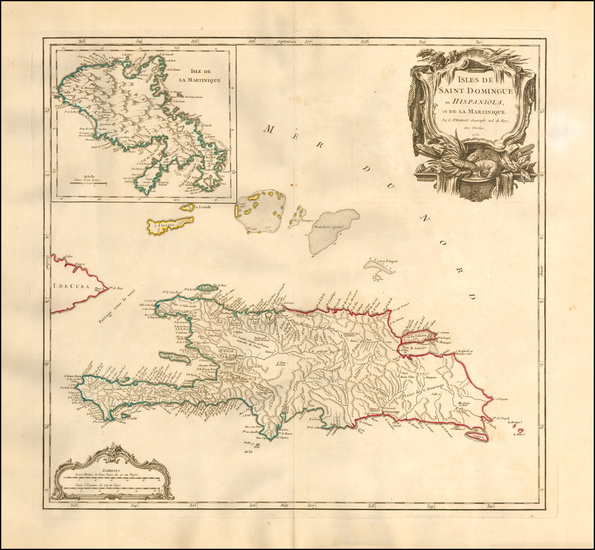 67-Caribbean Map By Gilles Robert de Vaugondy