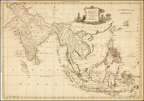 China, India, Southeast Asia, Philippines and Indonesia Map By Thomas Kitchin
