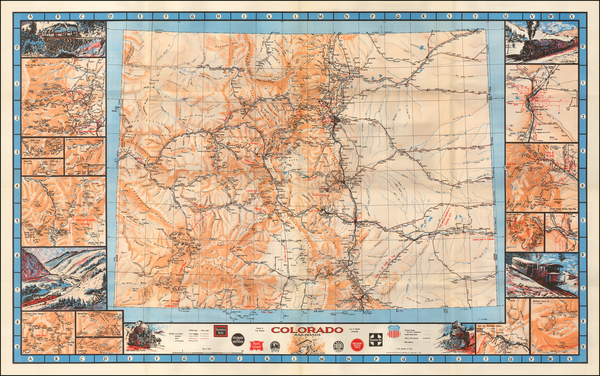 71-Colorado and Colorado Map By Linn Westcott