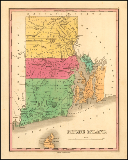 83-New England and Rhode Island Map By Anthony Finley