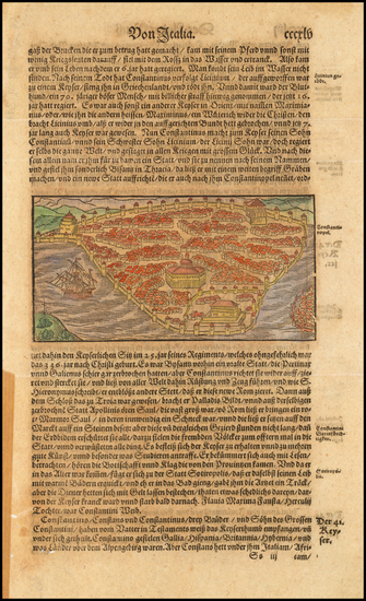 77-Turkey and Turkey & Asia Minor Map By Sebastian Munster