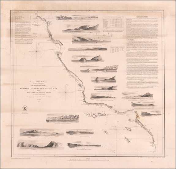 91-California Map By United States Coast Survey