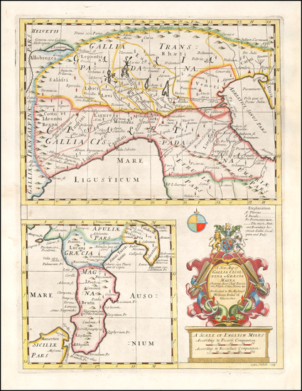 72-Northern Italy and Southern Italy Map By Edward Wells
