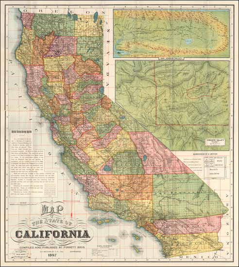 47-Baja California and Yosemite Map By Punnett Brothers