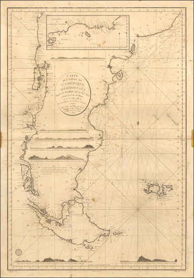 5-Argentina and Chile Map By Depot de la Marine