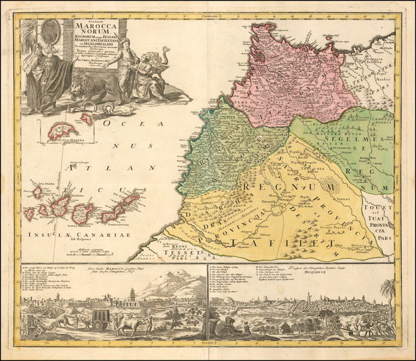 74-North Africa Map By Johann Christoph Homann