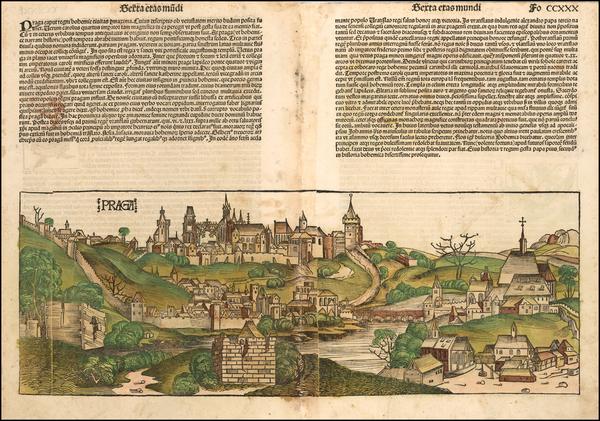 94-Czech Republic & Slovakia Map By Hartmann Schedel