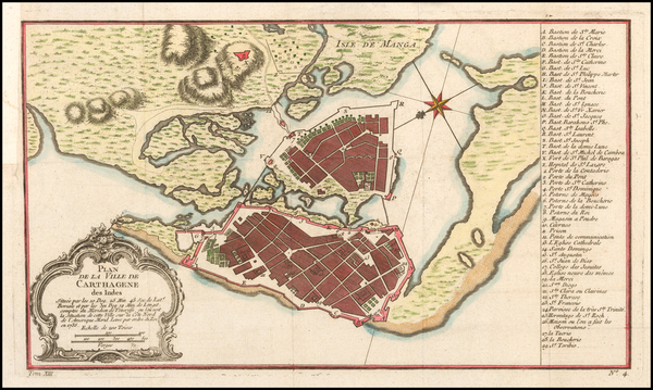 40-Colombia Map By Jacques Nicolas Bellin