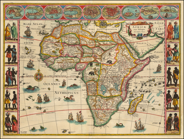 Africa Map By Willem Janszoon Blaeu