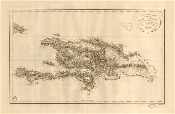 84-Hispaniola Map By Depot de la Marine