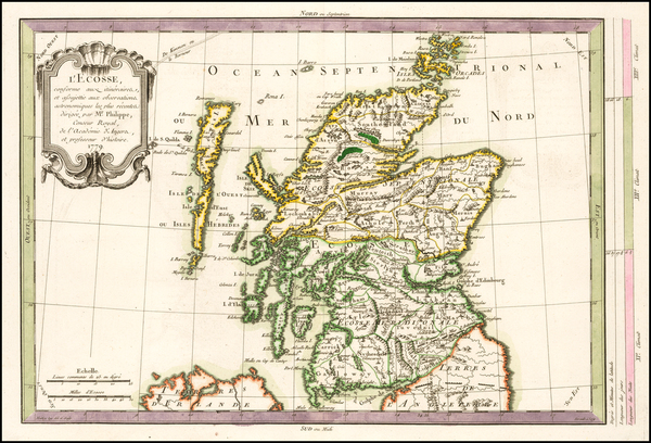 Scotland Map By Etienne-Andre Philippe  De Pretot