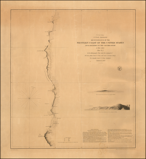 72-Oregon and California Map By United States Coast Survey