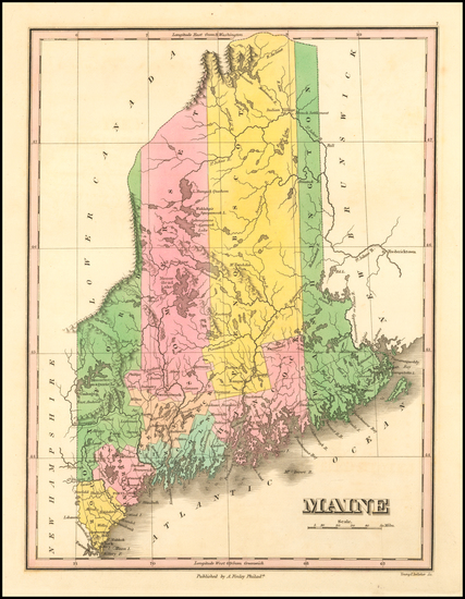 23-New England and Maine Map By Anthony Finley