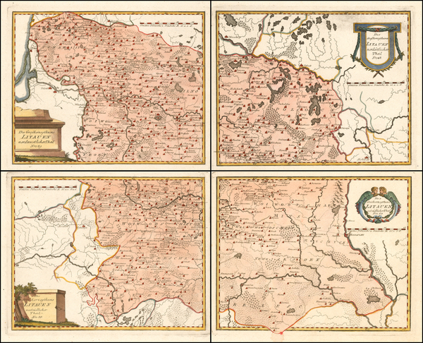 70-Poland and Baltic Countries Map By Franz Johann Joseph von Reilly