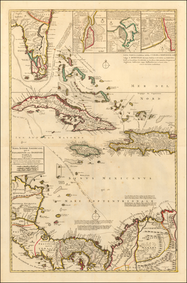 34-Florida, Cuba, Bahamas and Central America Map By Reiner & Joshua Ottens