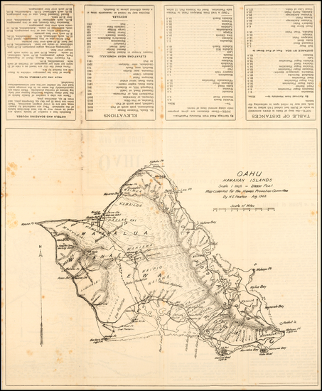 54-Hawaii and Hawaii Map By H. E. Newton