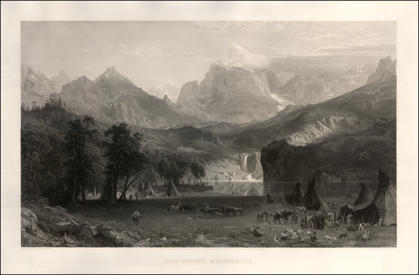 16-Rocky Mountains and Wyoming Map By Albert Bierstadt