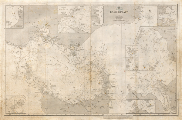 1-Australia Map By British Admiralty