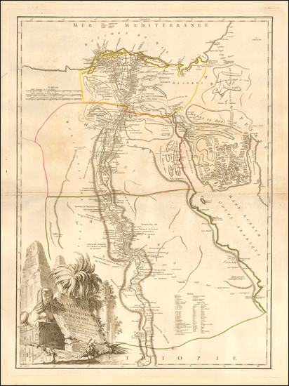50-Egypt Map By Didier Robert de Vaugondy