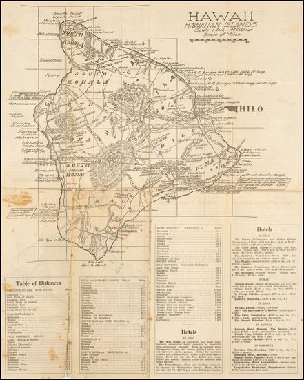 Hawaii and Hawaii Map By H. E. Newton