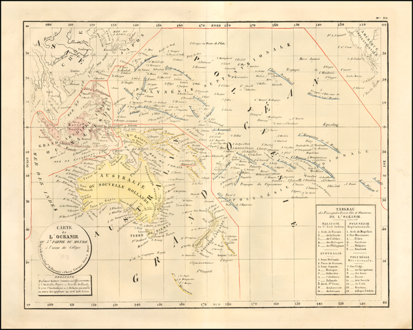 Pacific, Oceania and Other Pacific Islands Map By H. Selves