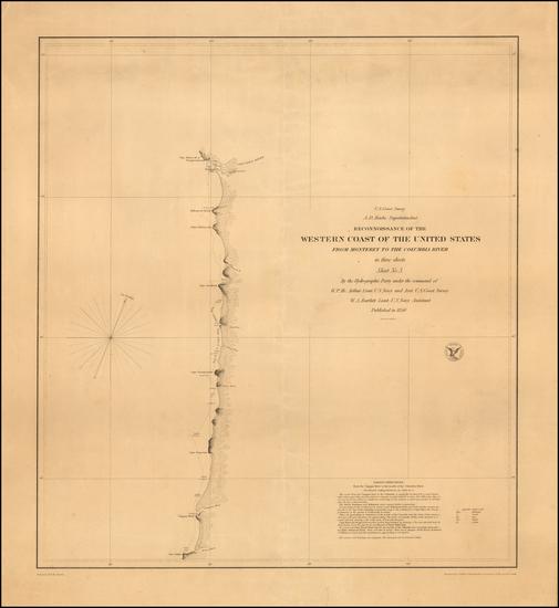 14-Oregon Map By United States Coast Survey