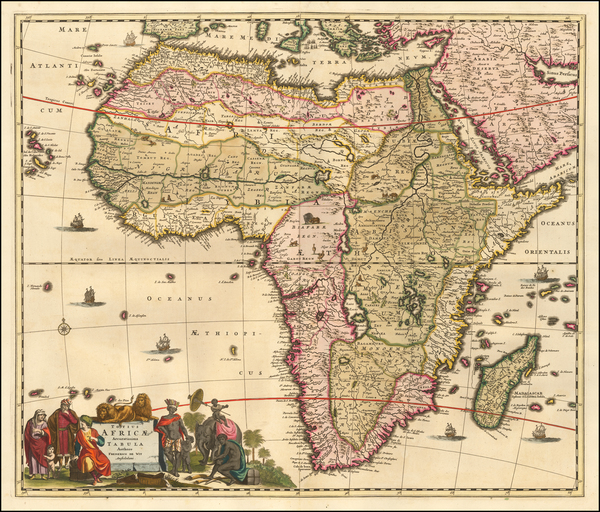 100-Africa Map By Frederick De Wit