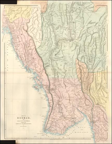 57-India and Thailand, Cambodia, Vietnam Map By John Arrowsmith