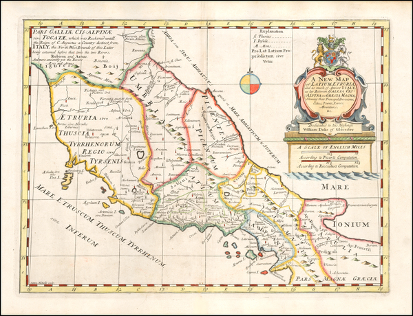 88-Southern Italy Map By Edward Wells