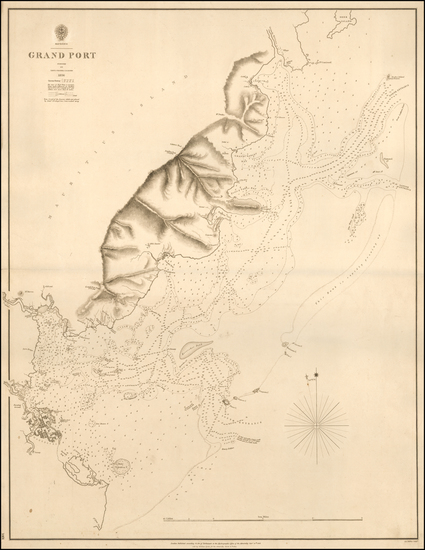 85-African Islands, including Madagascar Map By British Admiralty