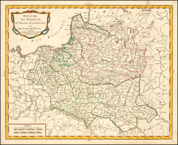 96-Poland and Baltic Countries Map By Pierre Bourgoin