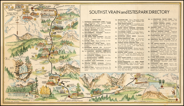 95-Colorado and Colorado Map By C. H. Ruth