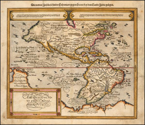 58-America Map By Sebastian Munster