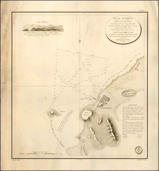 62-Chile and Peru & Ecuador Map By Depot de la Marine