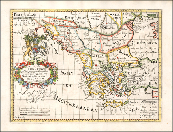 60-Balkans, Greece, Turkey and Turkey & Asia Minor Map By Edward Wells