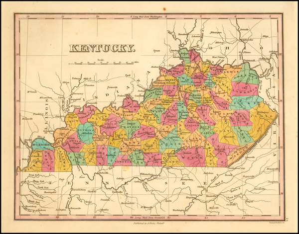 26-Kentucky Map By Anthony Finley