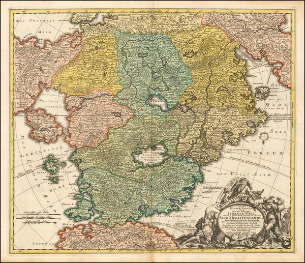Curiosities Map By Johann Baptist Homann