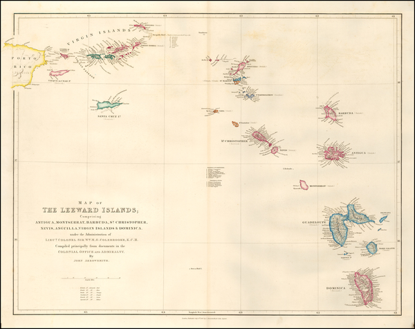 7-Virgin Islands and Other Islands Map By John Arrowsmith