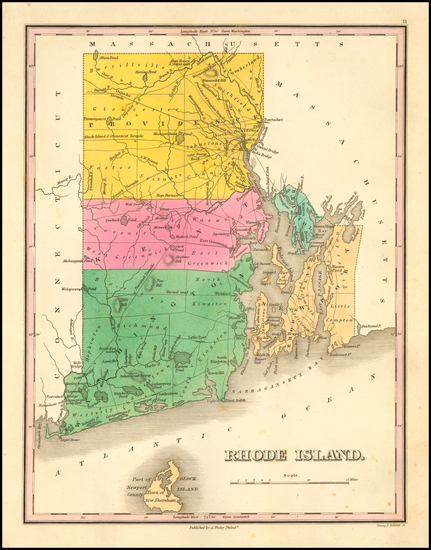 23-New England and Rhode Island Map By Anthony Finley