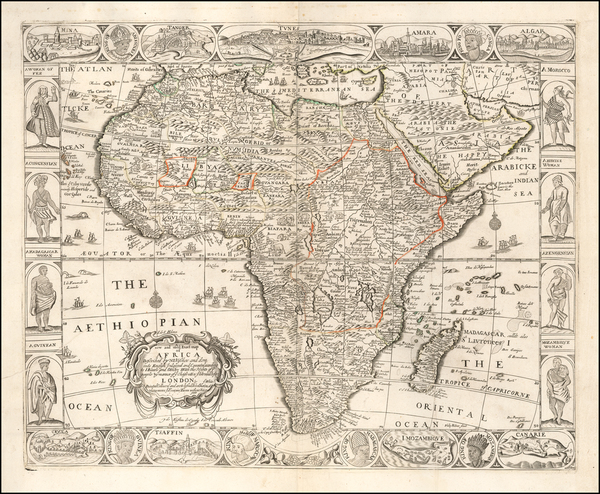 26-Africa Map By John Overton