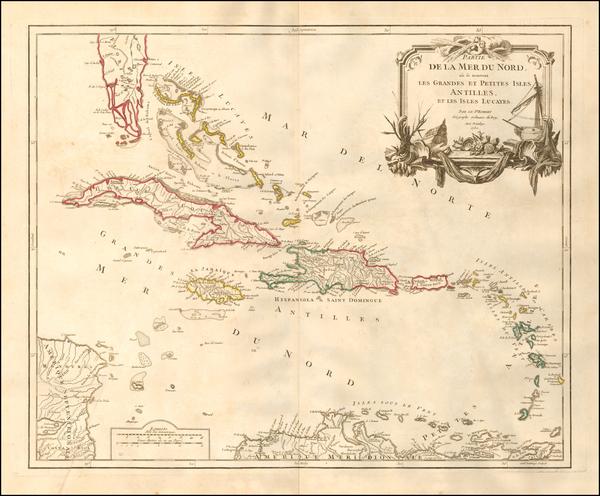 71-Caribbean Map By Didier Robert de Vaugondy