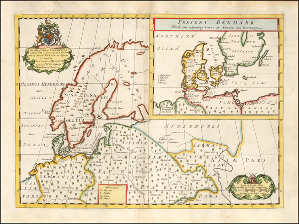 26-Baltic Countries and Scandinavia Map By Edward Wells