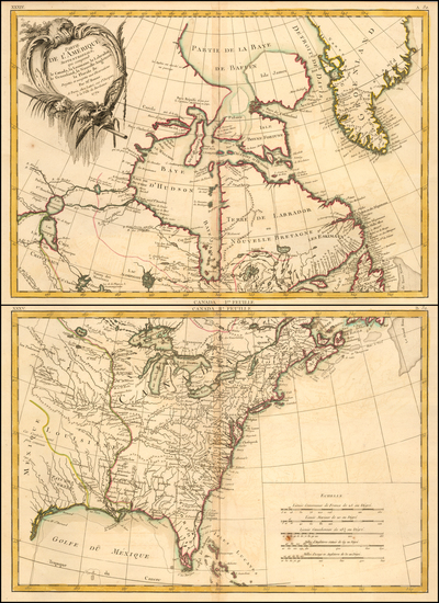 0-United States, North America and Eastern Canada Map By Rigobert Bonne