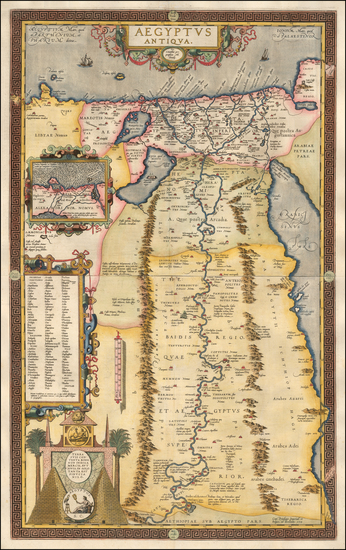 Egypt Map By Abraham Ortelius