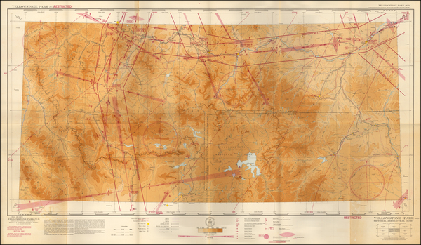 57-Wyoming Map By U.S. Coast & Geodetic Survey