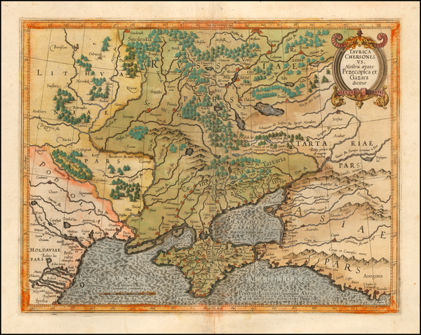 76-Russia and Ukraine Map By Gerhard Mercator