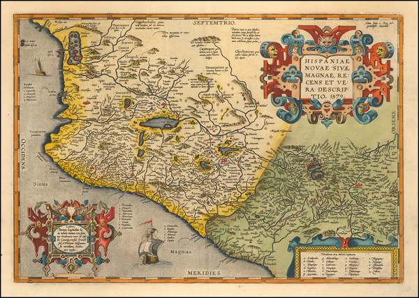 93-Mexico Map By Abraham Ortelius