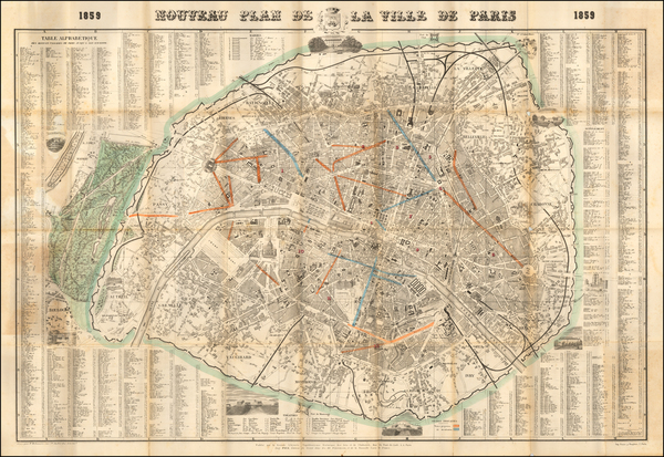 Paris Map By Eugene Pick