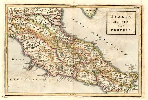 73-Europe and Italy Map By Christoph Cellarius
