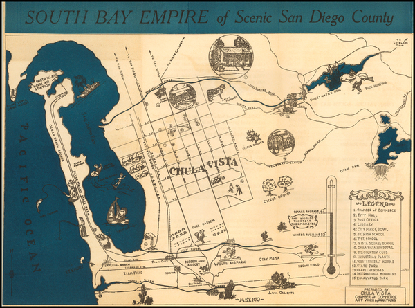 78-Pictorial Maps and San Diego Map By Anna Young